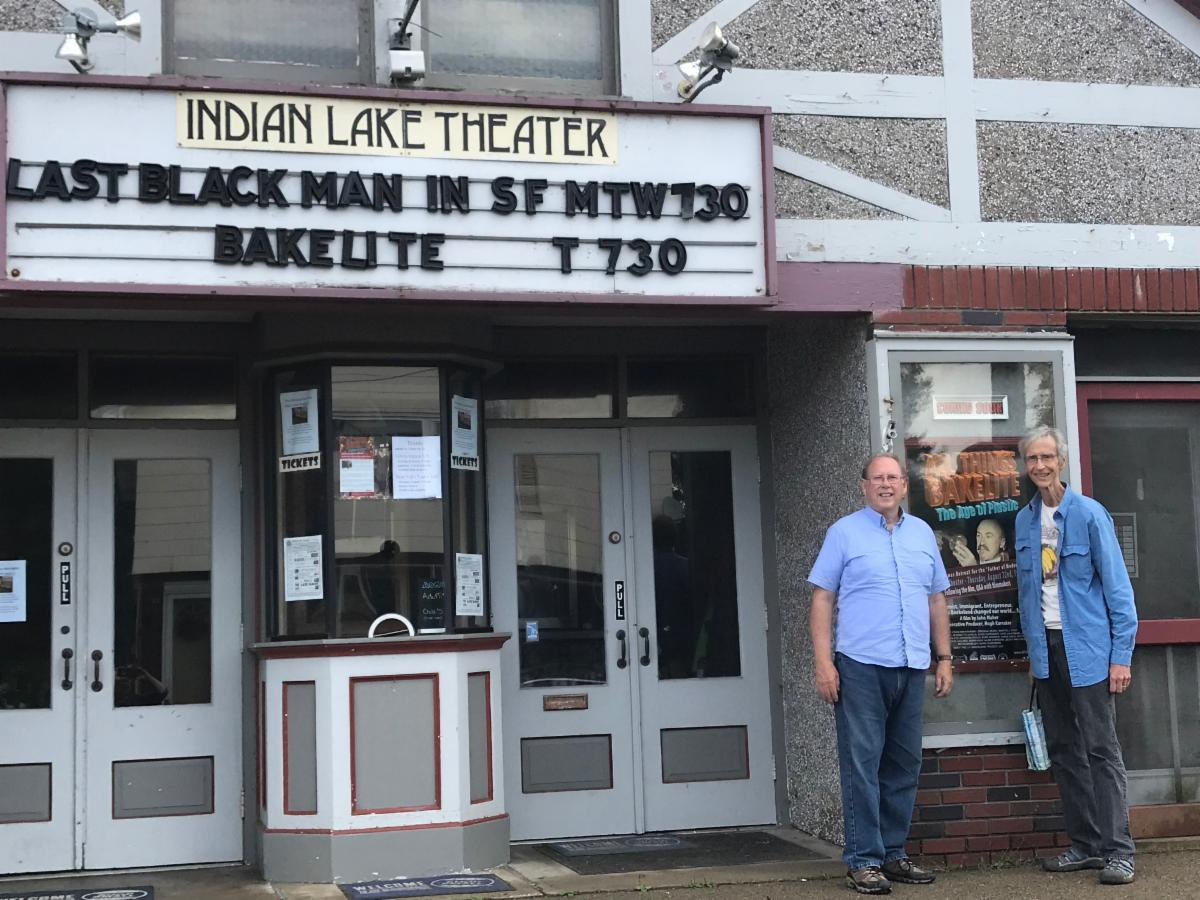 Hugh and John ATB screening at Indian Lake Theater