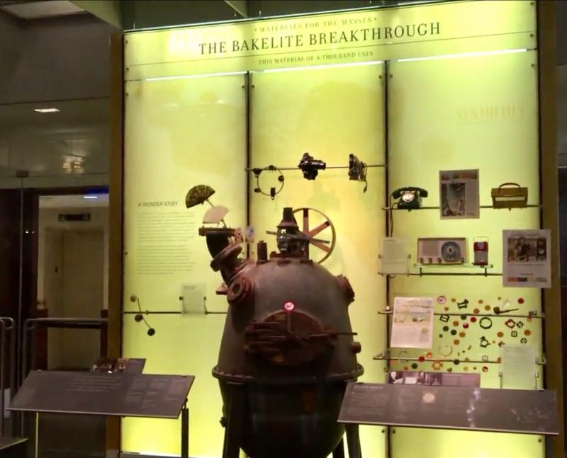 Baekeland and Bakelite display at Science History Institute