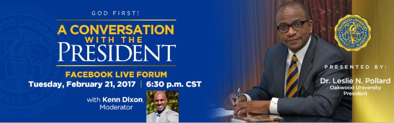 insideOakwood: Oakwood's President to Host A Conversation