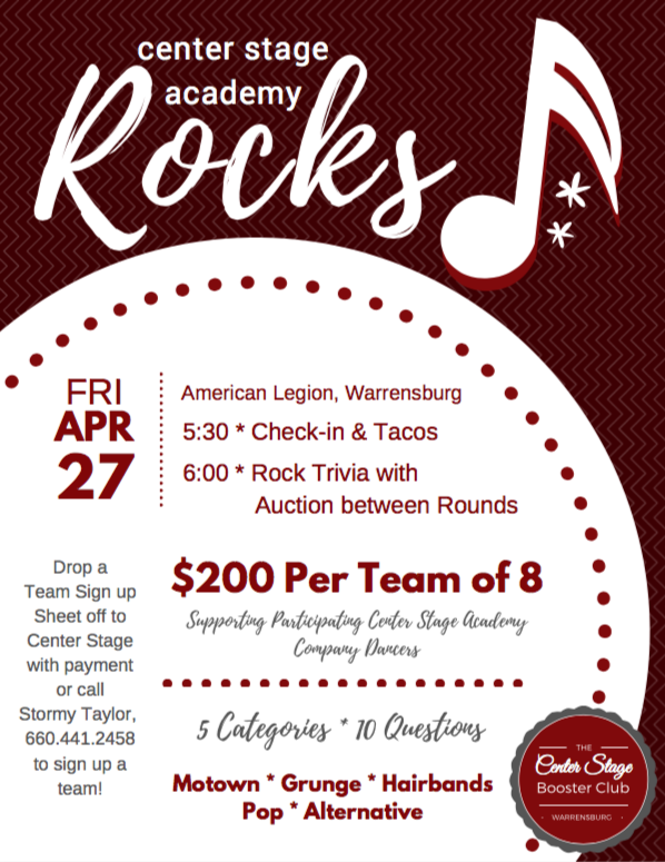 CS Rocks Trivia Night Flyer
