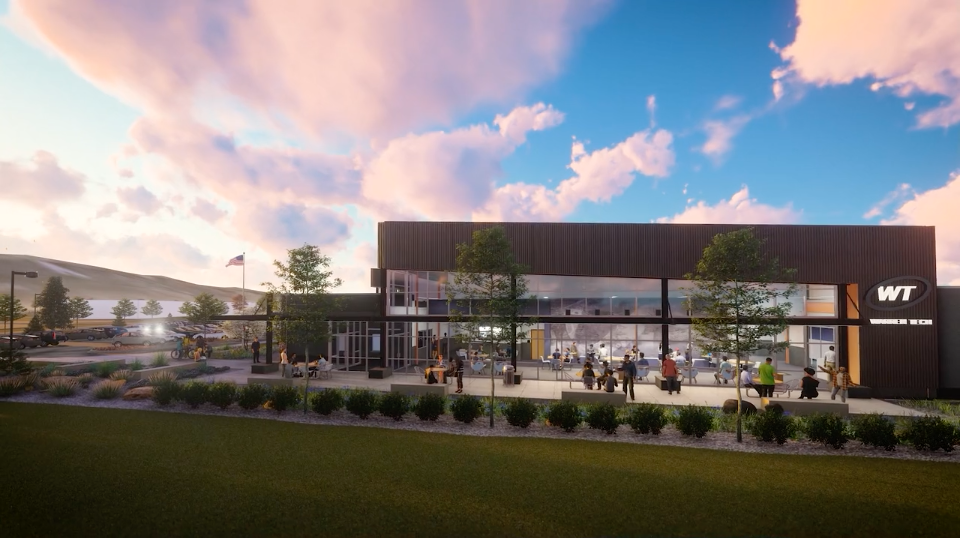 Exterior rendering of Warren Tech South