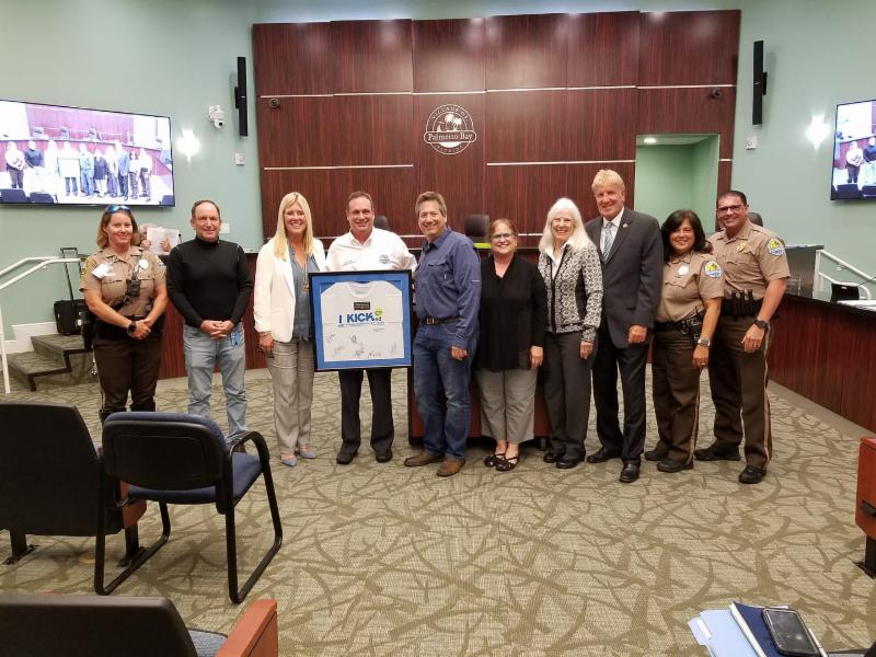 Photo of Mayor, Council and members of the Miami Cure Cystic Fibrosis team.