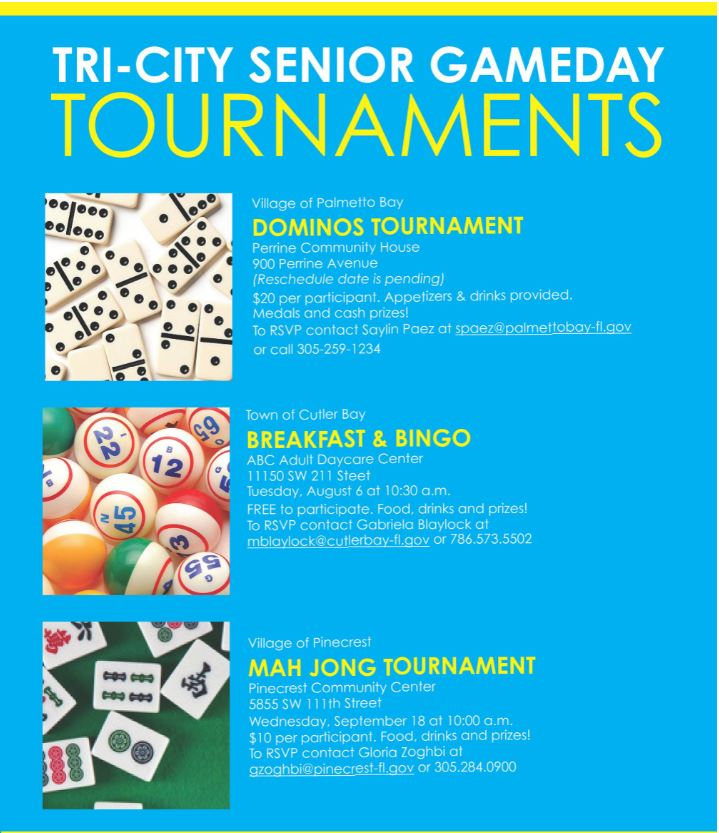 Tri-City Senior Tournament flyer