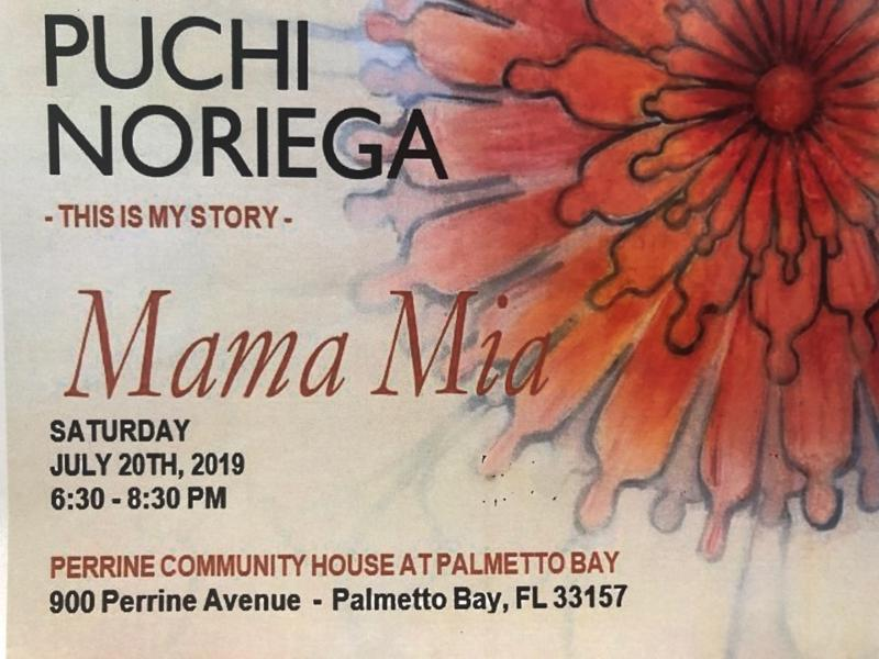 Photo of art flyer from Puchi Noriega