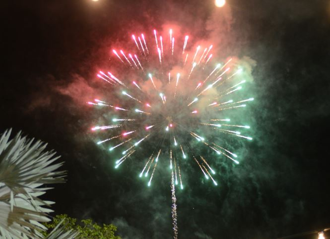 Fireworks at the Independence Day Extravaganza