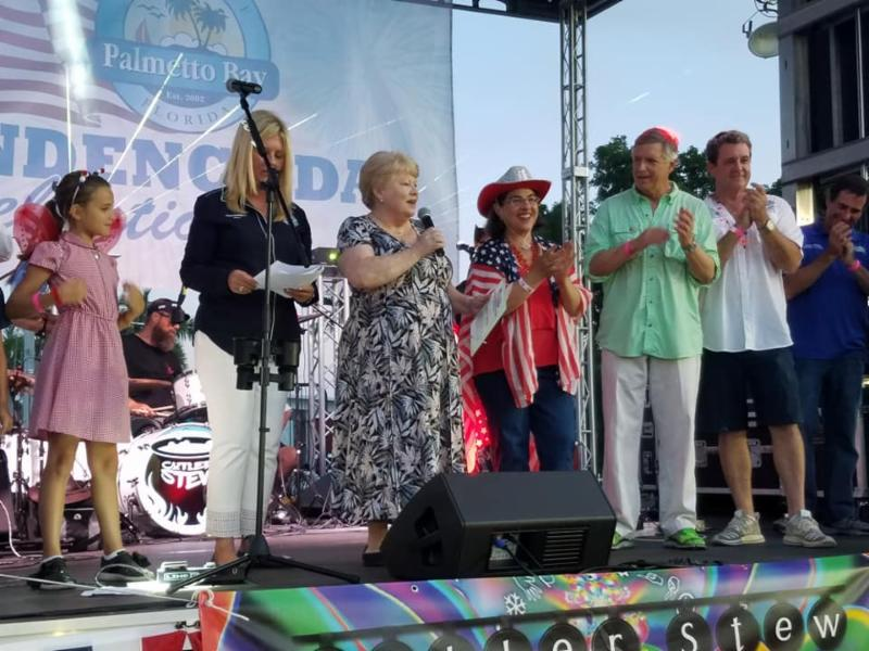 Photo of people onstage at Independence Day Extravaganza