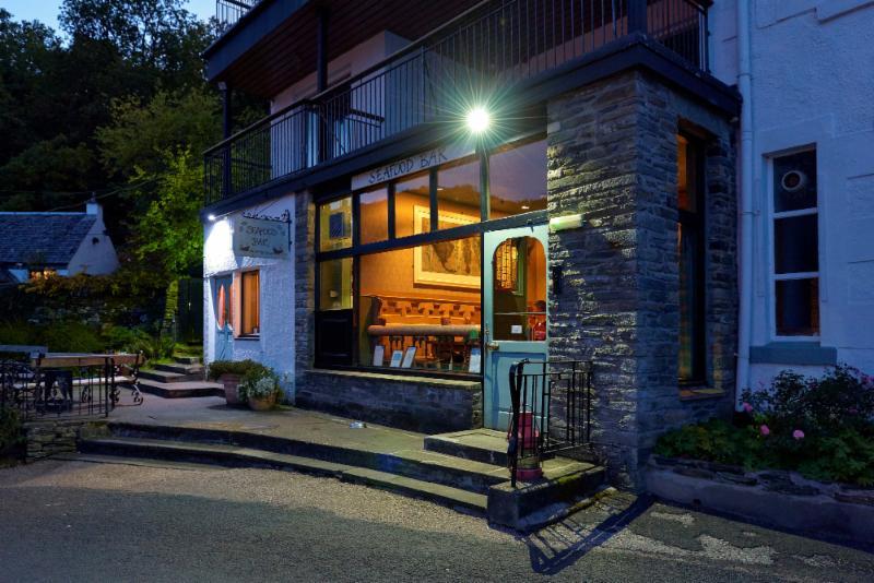 Photo of the Seafood Bar at the Crinan HOtel