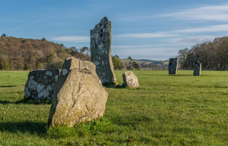 Photo of standing stones at Kilmartin Glen