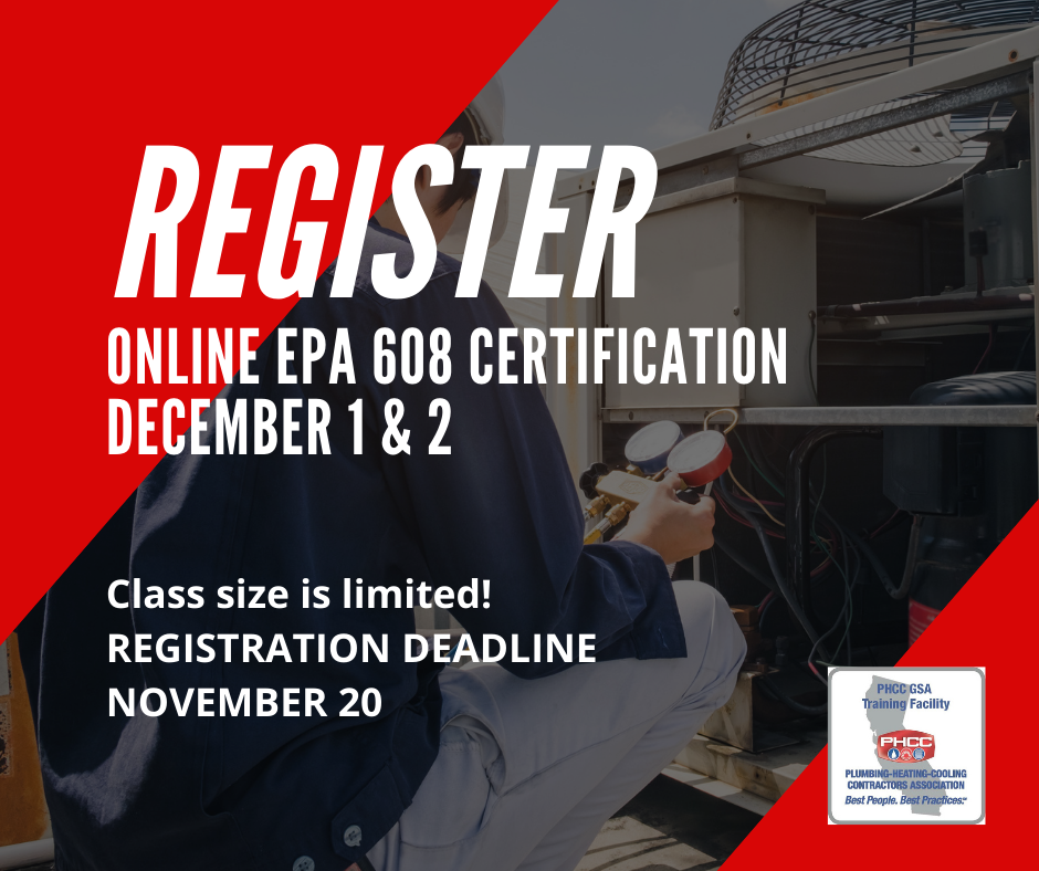 Register for the Online EPA 608 Certification Course