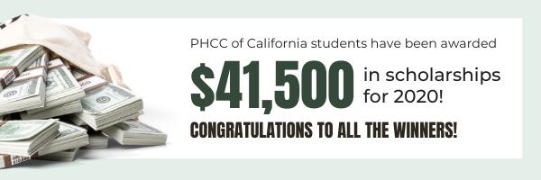 $41,500 in scholarships for 2020