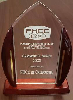 PHCC of California has won the 2020 PHCC Grassroots Legislative Award!