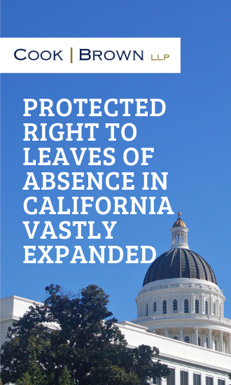 Protected Right to Leaves of Absence in California Vastly Expanded