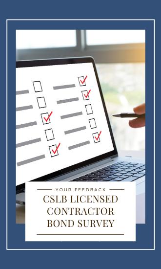 CSLB Contractor Bond Survey