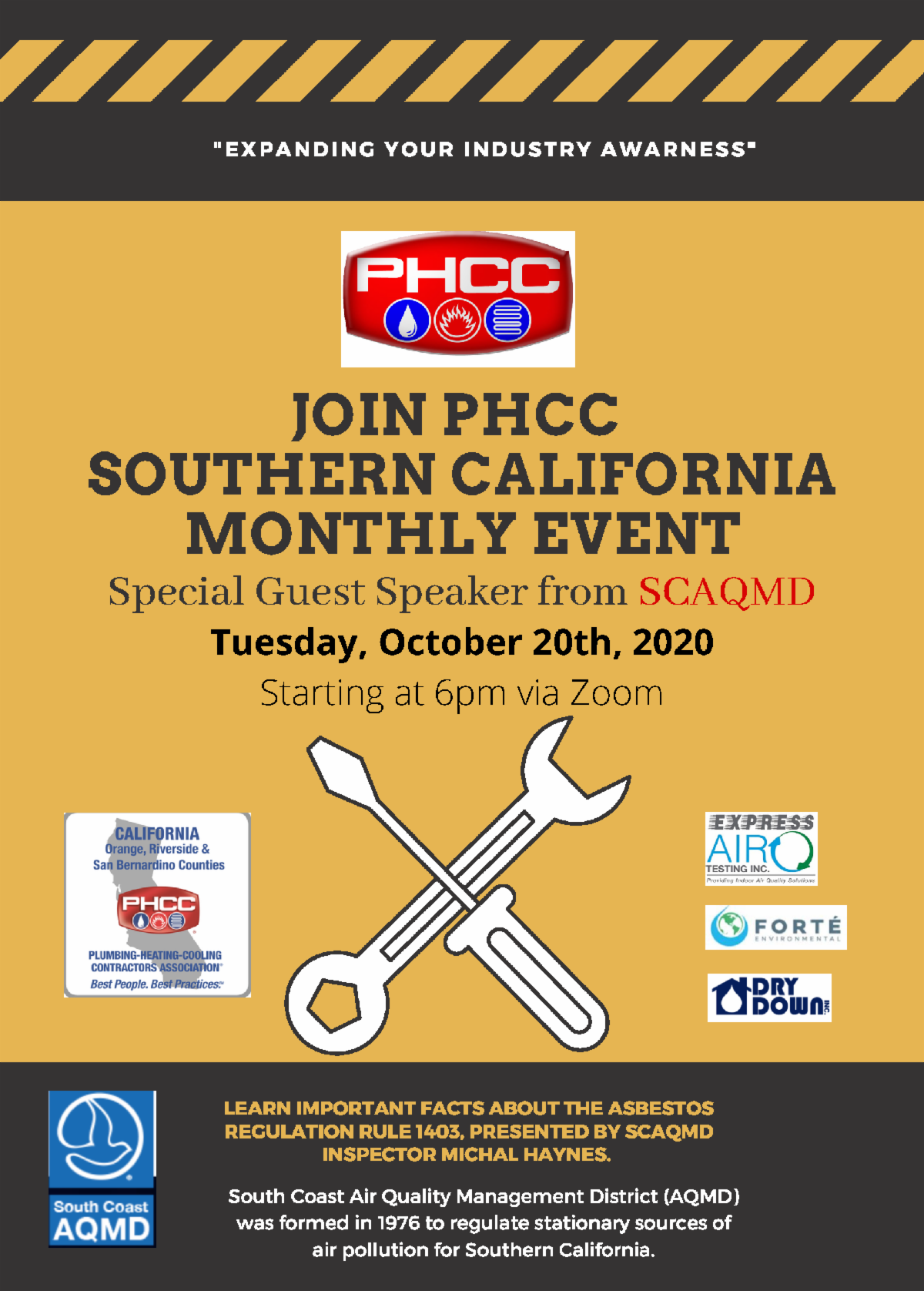 Southern CA Joint Chapter Meeting hosted by PHCC of Orange, Riverside, and San Bernardino Counties