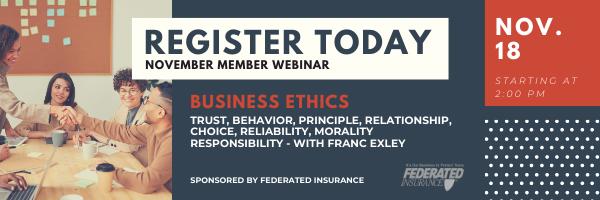 Business Ethics November Member Webinar - Nov. 18