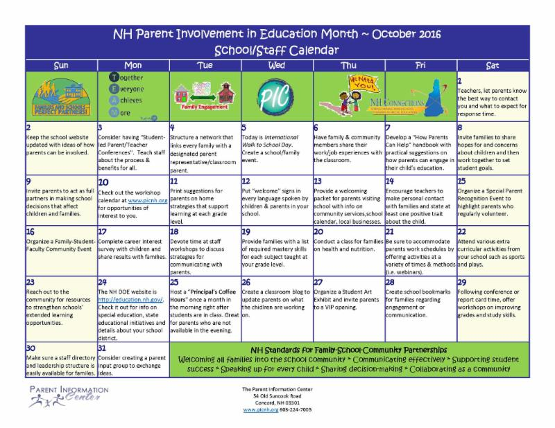 PI Month School Calendar
