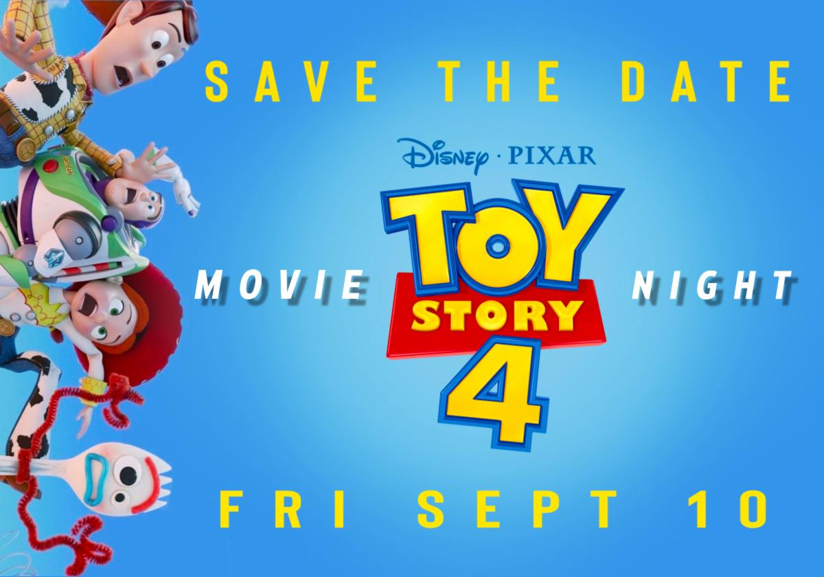 Save the date Movie Night Friday September 10