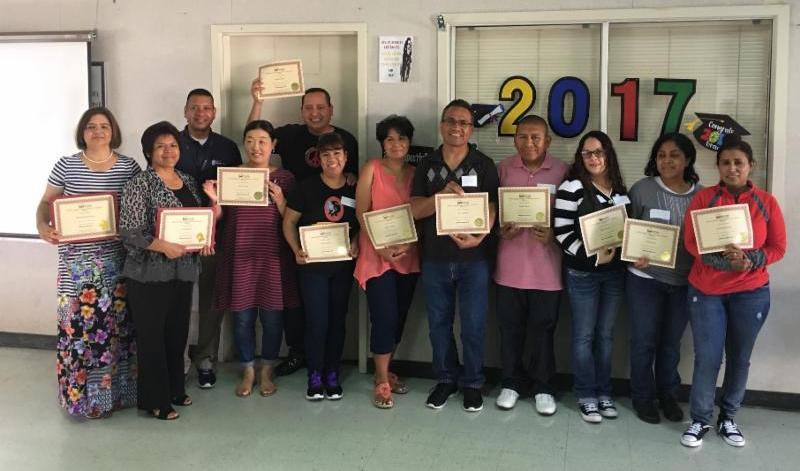DELAC Parents receive awards