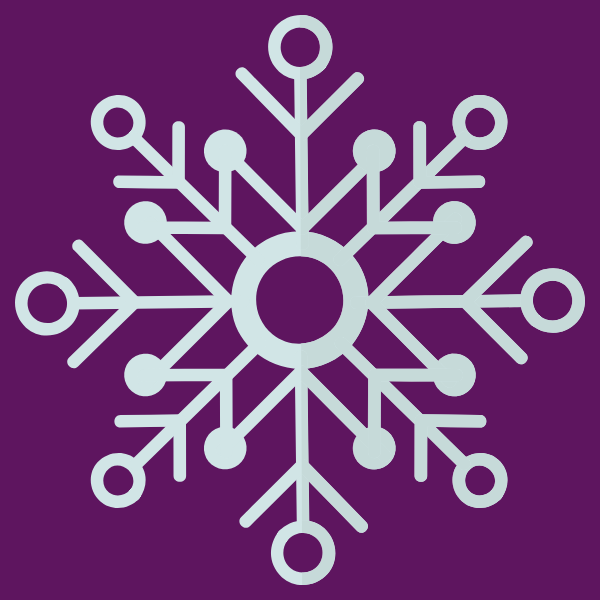 snowflake with SRCS purple background