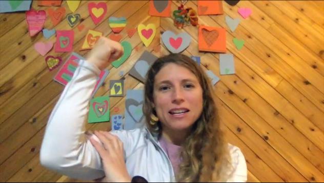screen capture of yoga teacher Debi