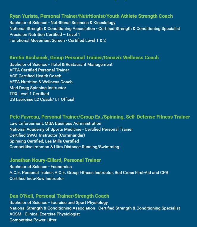 Our Unmatched Fitness Professionals - See for yourself