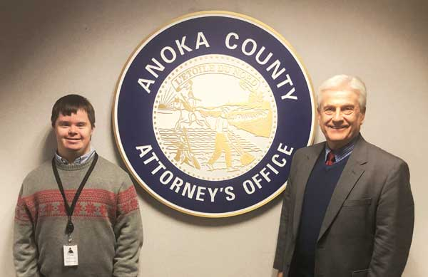 Charles Weaver with Anoka County Attorney Tony Palumbo