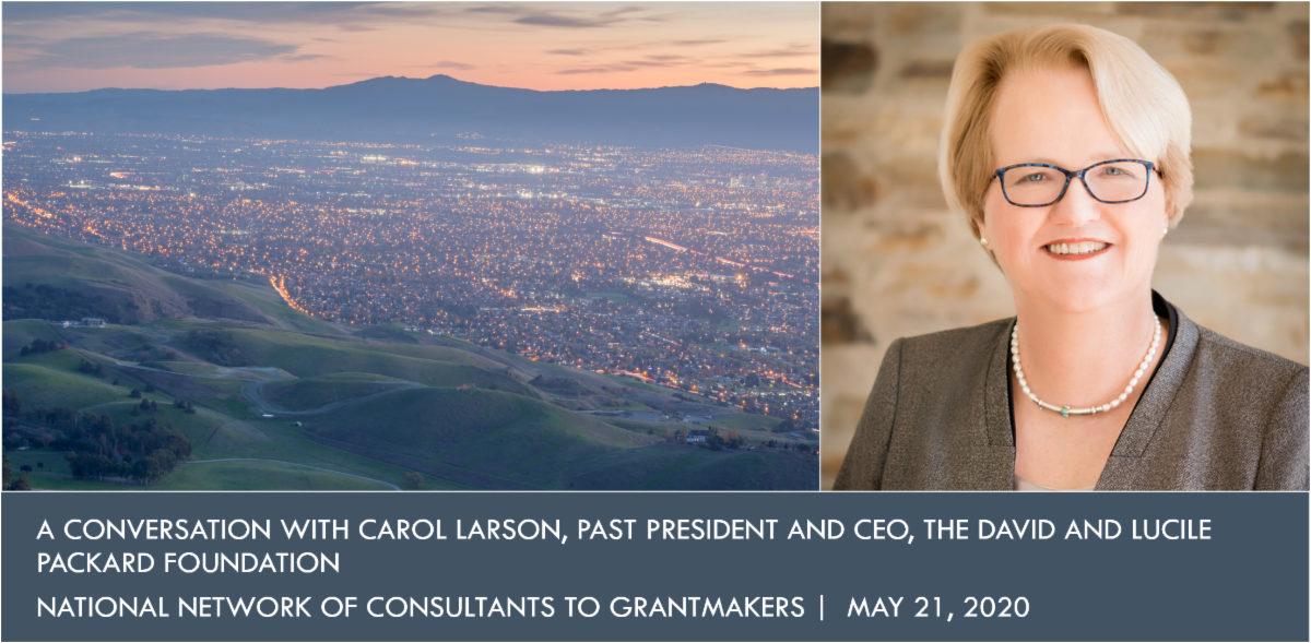 Title slide of Carol Larson webinar