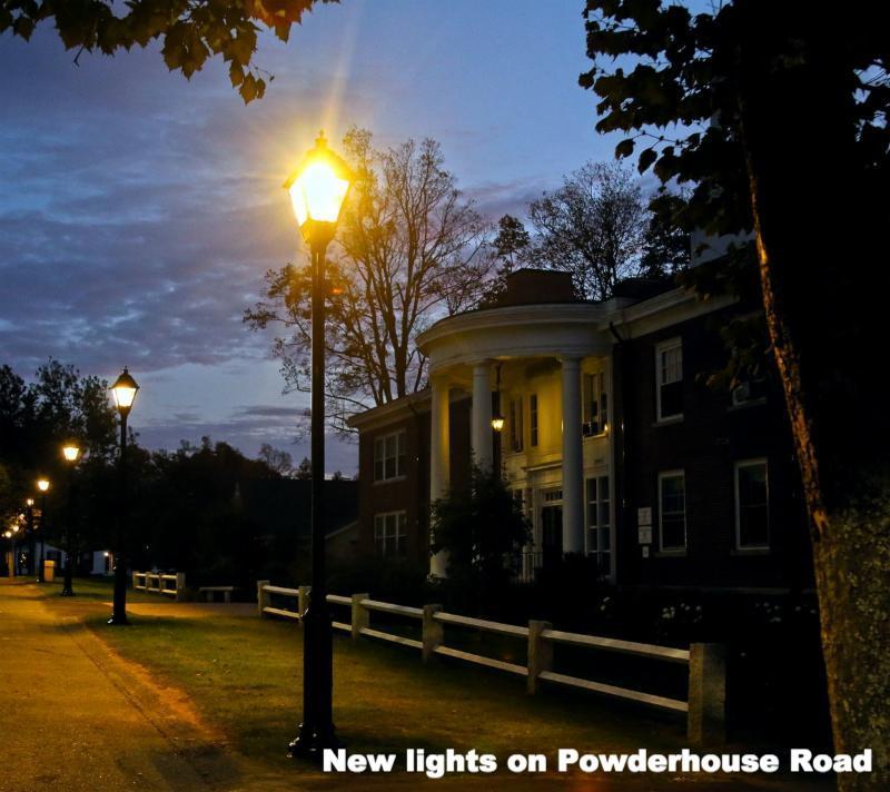 New lights on Powderhouse Road...