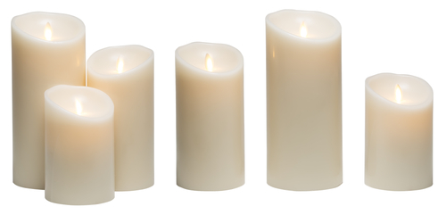 Candle Light_ White Wax Candles Lights Isolated on White Background_ clipping path
