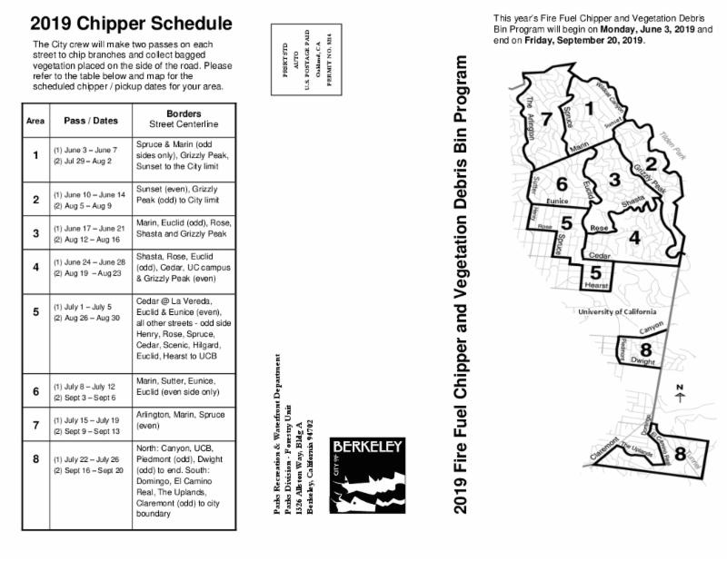 Chipper schedule