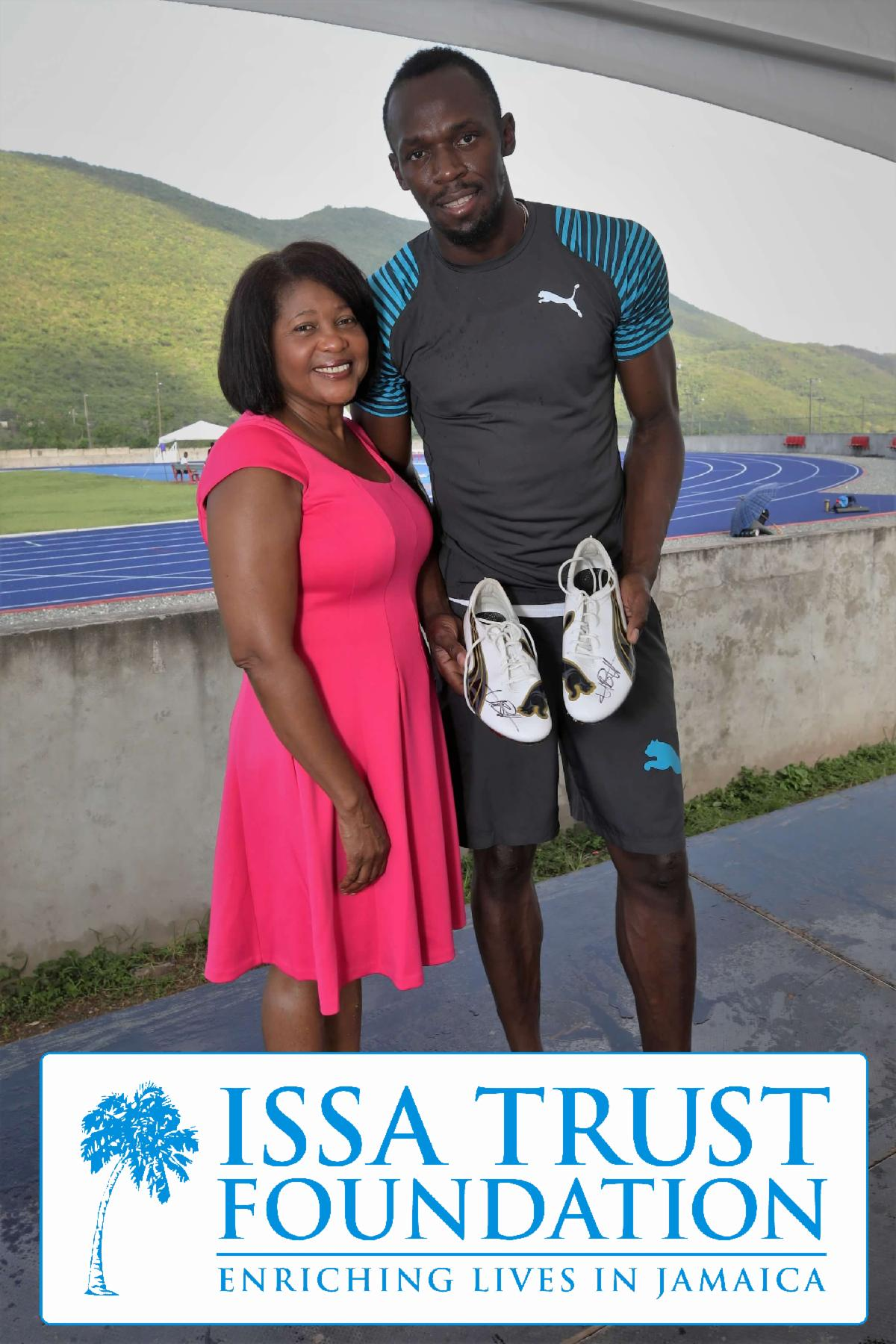 Her Excellency Lady Allen and Usain Bolt