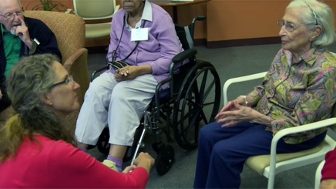 """Carers for elderly get """"genius"""" tools to relieve pandemic's deadly isolation"""