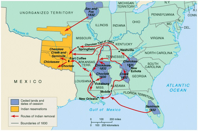 Trail Of Tears Oklahoma Map.Feds Forced 17 000 From Homes Trail Of Tears Marched Them To Oklahoma