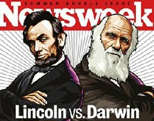 Image result for lincoln and darwin