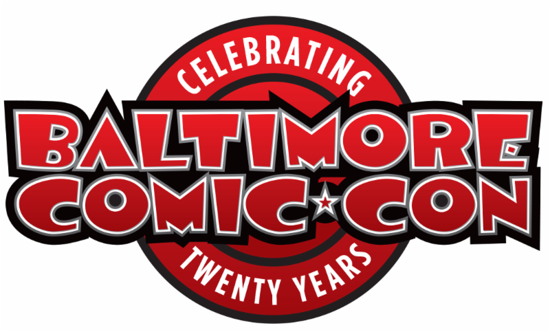 Baltimore Comic-Con 20 Years Logo