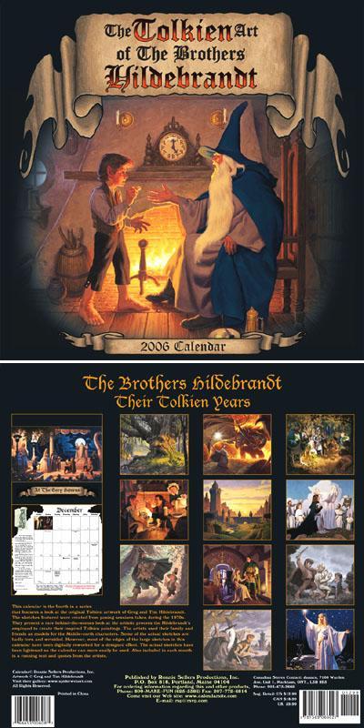 Tolkein Calendar by Greg Hildebrandt