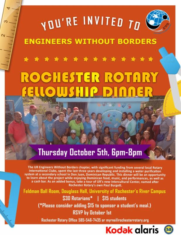 Rochester Rotary Spoke36 Newsletter Week 9/4