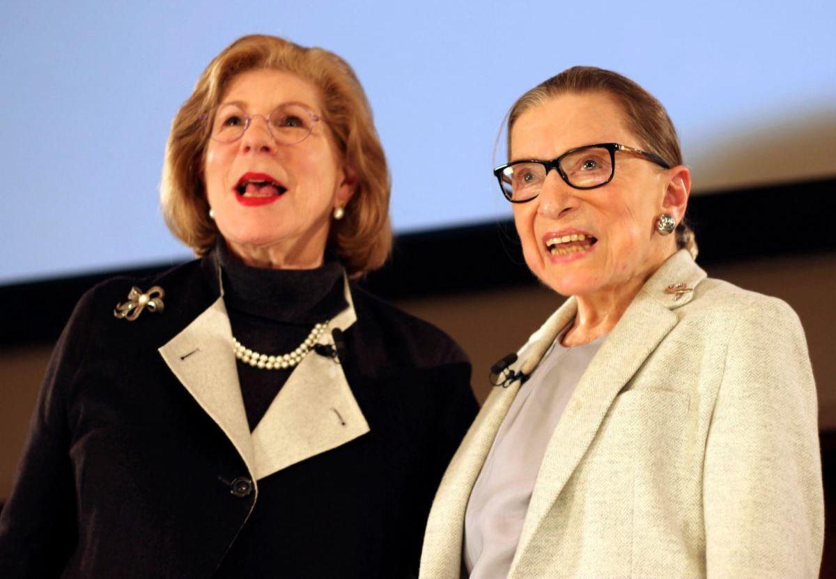 Nina Totenberg and Justice Ginsburg