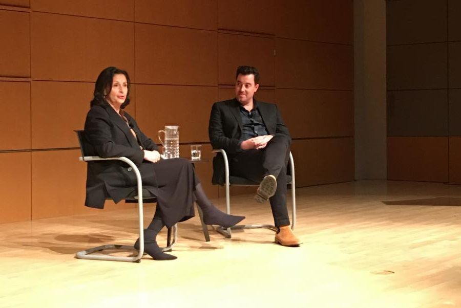 CNN's Amy Entelis and Jon Adler seated onstage at NMAJH