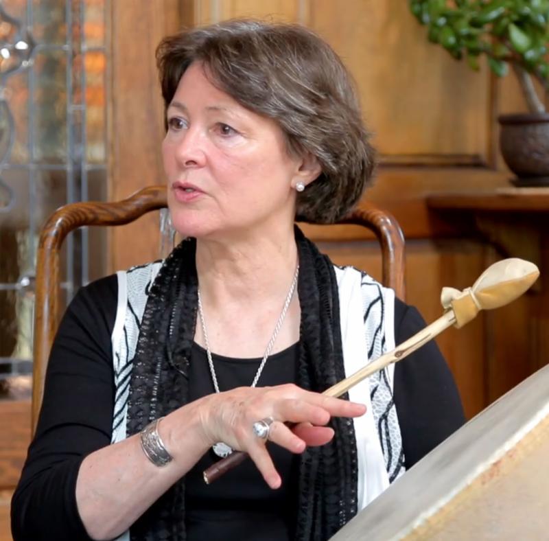 Susan Mokelke with drum