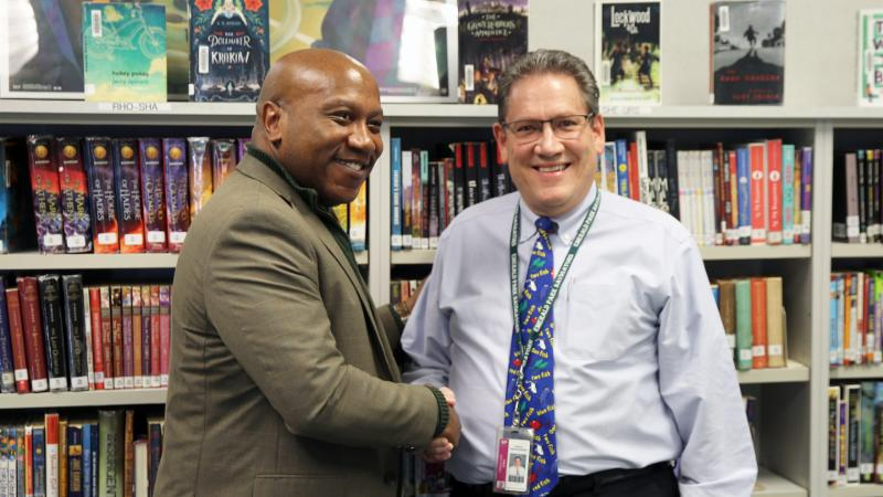 2018-2019 Teacher of the Year and Dr. Watts
