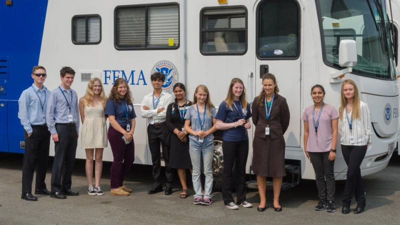 The 2018 R10 Youth Preparedness Council on their tour of the MERS facility in Bothell, WA. Photo by Jeffrey Markham - Aug 15, 2018