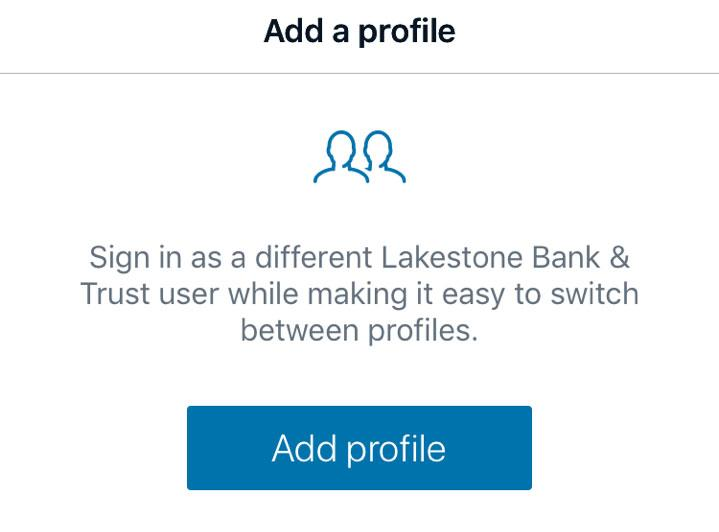 add a profile to mobile app image