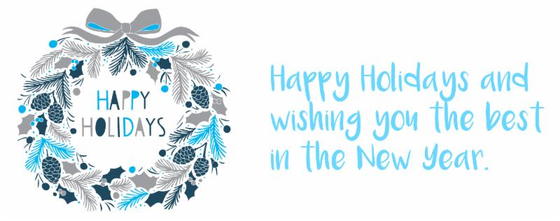 Happy Holidays and the best in the New Year