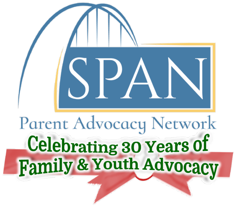 SPAN Logo with text -  Celebrating 30 Years of Family & Youth Advocacy