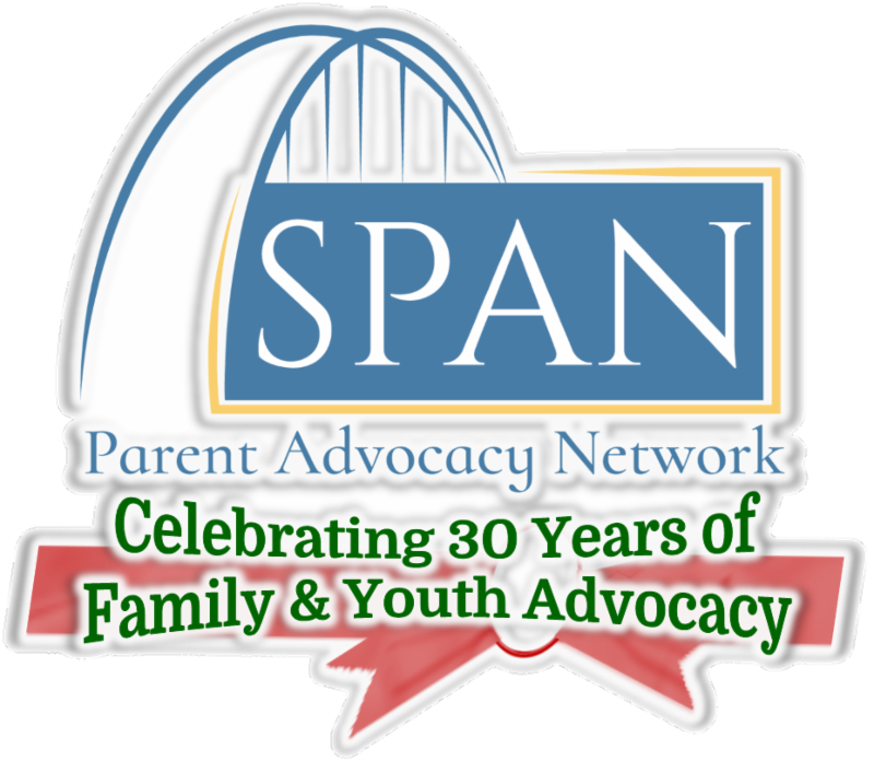 Logo: SPAN Parent Advocacy Network-Celebrating 30 Years of Family & Youth Advocacy