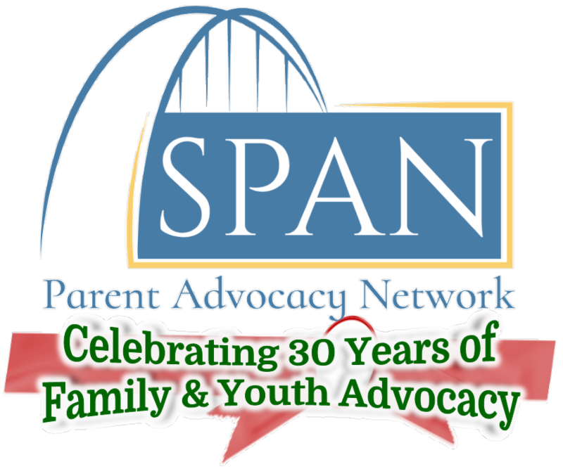 SPAN logo with %22Celebrating 30 Years of Family & Youth Advocacy%22