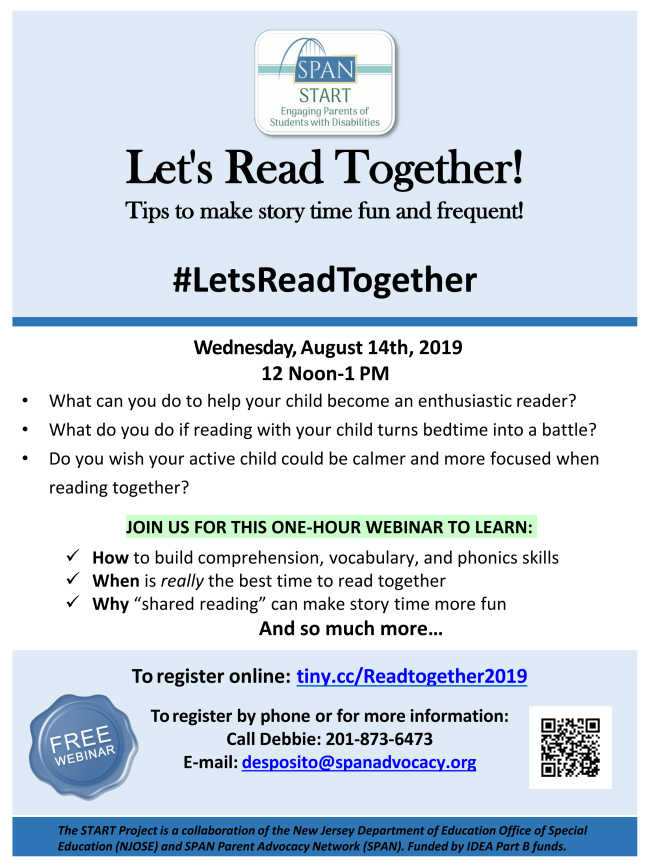 Event Flyer for Let's Read Together!