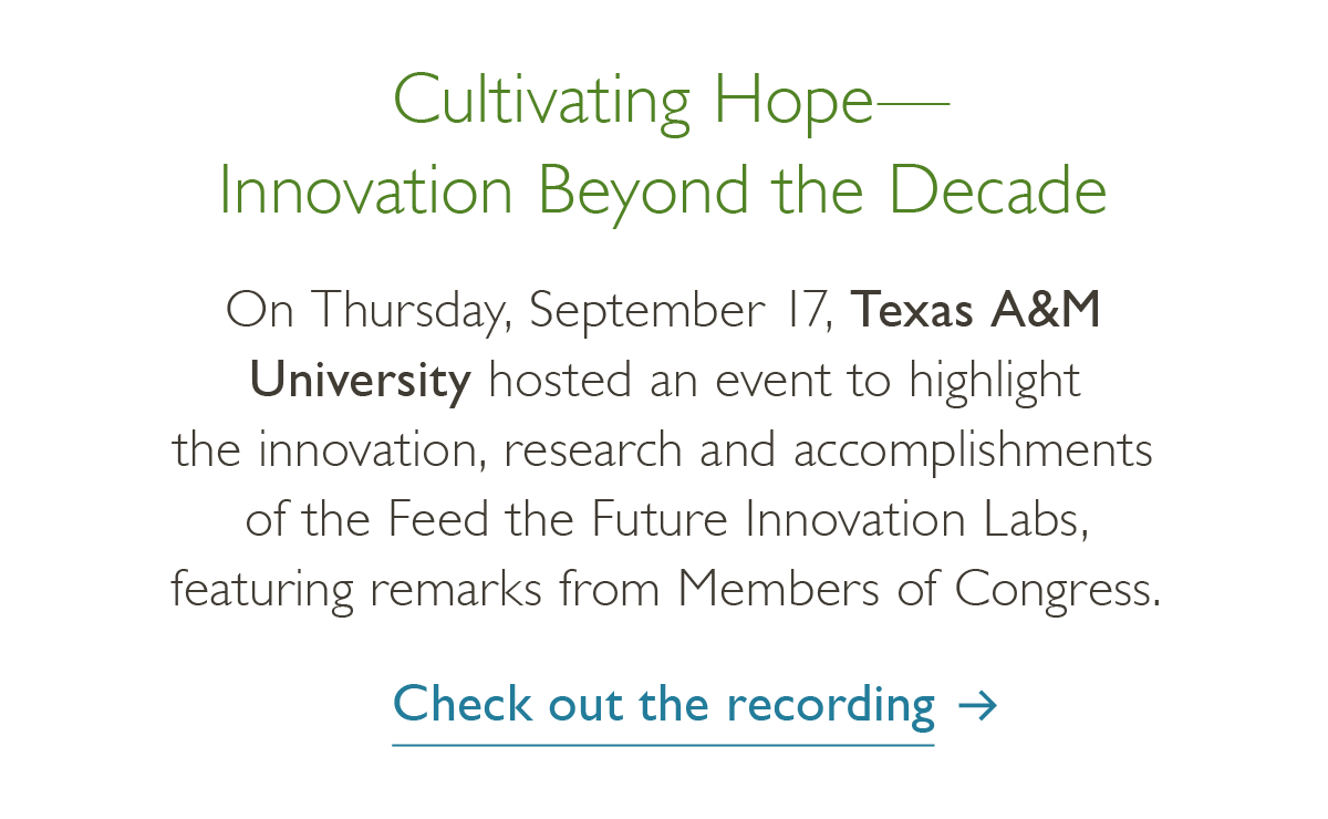 Cultivating Hope - Innovation beyond the decade - check out the recording