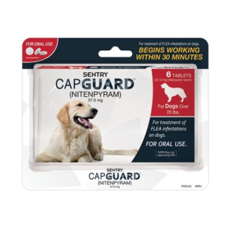 Capguard Flea Tablets for dogs and cats are now available at Pasturas.